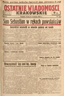 Ostatnie Wiadomości Krakowskie. 1936, nr261