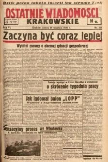 Ostatnie Wiadomości Krakowskie. 1936, nr264