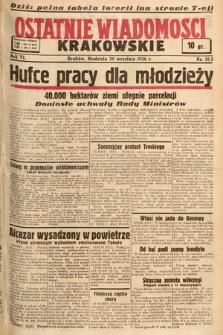 Ostatnie Wiadomości Krakowskie. 1936, nr265