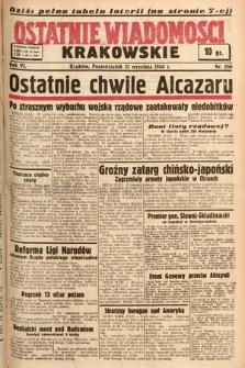 Ostatnie Wiadomości Krakowskie. 1936, nr266