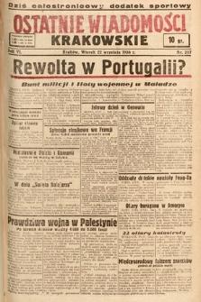Ostatnie Wiadomości Krakowskie. 1936, nr267