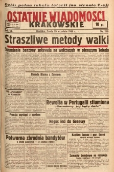 Ostatnie Wiadomości Krakowskie. 1936, nr268