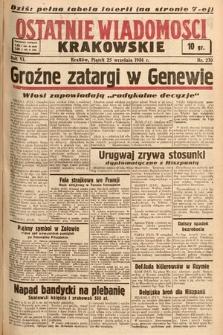 Ostatnie Wiadomości Krakowskie. 1936, nr270