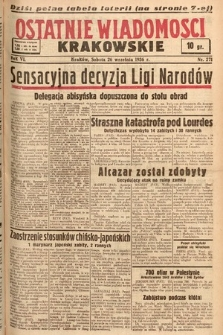 Ostatnie Wiadomości Krakowskie. 1936, nr271
