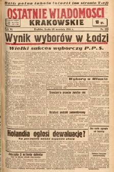 Ostatnie Wiadomości Krakowskie. 1936, nr275