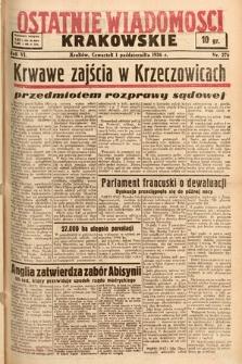 Ostatnie Wiadomości Krakowskie. 1936, nr276
