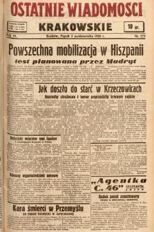 Ostatnie Wiadomości Krakowskie. 1936, nr277