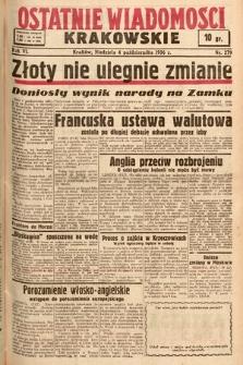 Ostatnie Wiadomości Krakowskie. 1936, nr279