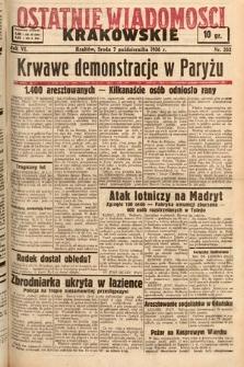 Ostatnie Wiadomości Krakowskie. 1936, nr282
