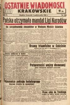 Ostatnie Wiadomości Krakowskie. 1936, nr283