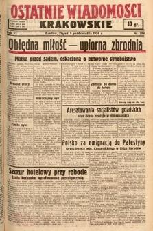 Ostatnie Wiadomości Krakowskie. 1936, nr284
