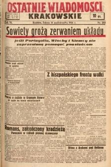 Ostatnie Wiadomości Krakowskie. 1936, nr285