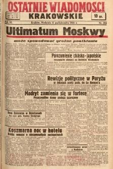Ostatnie Wiadomości Krakowskie. 1936, nr286