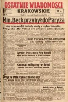 Ostatnie Wiadomości Krakowskie. 1936, nr290