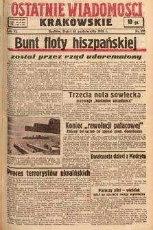 Ostatnie Wiadomości Krakowskie. 1936, nr291