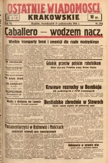 Ostatnie Wiadomości Krakowskie. 1936, nr294