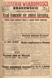 Ostatnie Wiadomości Krakowskie. 1936, nr296