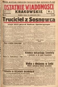 Ostatnie Wiadomości Krakowskie. 1936, nr299