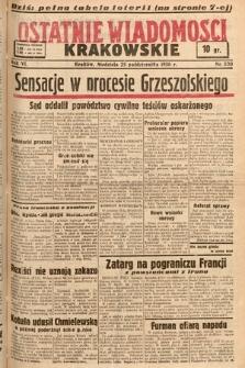 Ostatnie Wiadomości Krakowskie. 1936, nr300