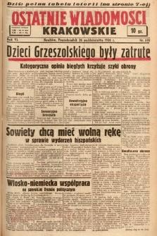 Ostatnie Wiadomości Krakowskie. 1936, nr301