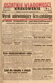 Ostatnie Wiadomości Krakowskie. 1936, nr304