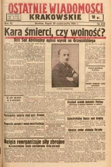 Ostatnie Wiadomości Krakowskie. 1936, nr305