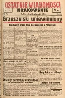 Ostatnie Wiadomości Krakowskie. 1936, nr306