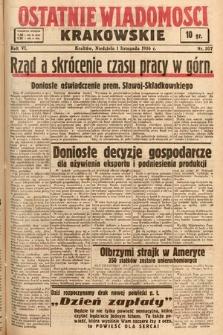 Ostatnie Wiadomości Krakowskie. 1936, nr307