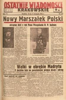 Ostatnie Wiadomości Krakowskie. 1936, nr317