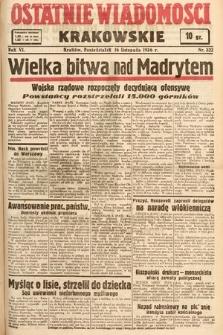 Ostatnie Wiadomości Krakowskie. 1936, nr322