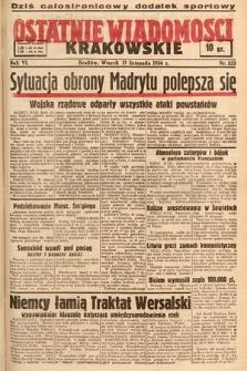 Ostatnie Wiadomości Krakowskie. 1936, nr323