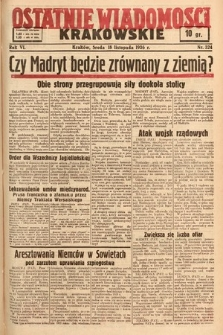 Ostatnie Wiadomości Krakowskie. 1936, nr324
