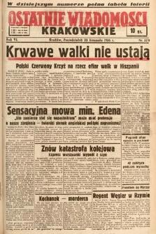 Ostatnie Wiadomości Krakowskie. 1936, nr329