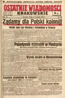 Ostatnie Wiadomości Krakowskie. 1936, nr331