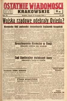 Ostatnie Wiadomości Krakowskie. 1936, nr333