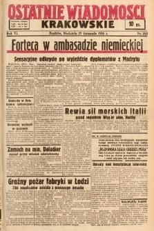 Ostatnie Wiadomości Krakowskie. 1936, nr335