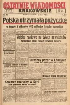Ostatnie Wiadomości Krakowskie. 1936, nr339