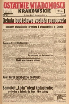 Ostatnie Wiadomości Krakowskie. 1936, nr340