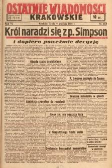 Ostatnie Wiadomości Krakowskie. 1936, nr345