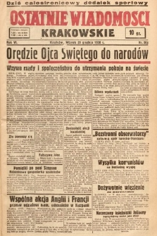 Ostatnie Wiadomości Krakowskie. 1936, nr363