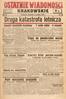 Ostatnie Wiadomości Krakowskie. 1936, nr365