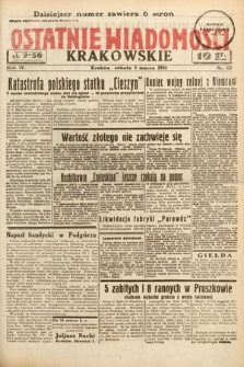 Ostatnie Wiadomości Krakowskie. 1934, nr62