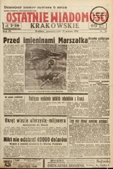 Ostatnie Wiadomości Krakowskie. 1934, nr78