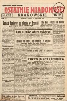 Ostatnie Wiadomości Krakowskie. 1934, nr116