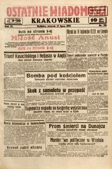 Ostatnie Wiadomości Krakowskie. 1934, nr196