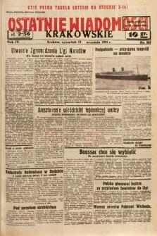Ostatnie Wiadomości Krakowskie. 1934, nr262