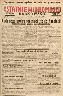 Ostatnie Wiadomości Krakowskie. 1934, nr290