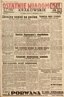 Ostatnie Wiadomości Krakowskie. 1934, nr319
