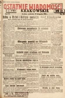 Ostatnie Wiadomości Krakowskie. 1934, nr328