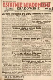Ostatnie Wiadomości Krakowskie. 1934, nr345